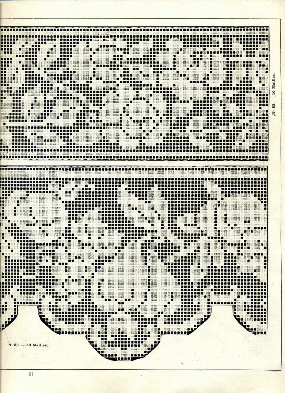 Картины крючком в технике филейного вязания 99