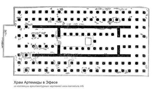 Храм Артемиды эфесской, план