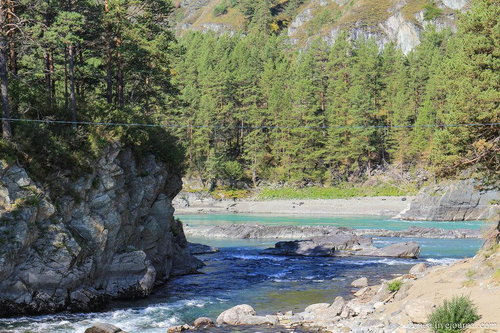 Чемальская ГЭС, плотина, река Чемал, Чемал, Горный Алтай