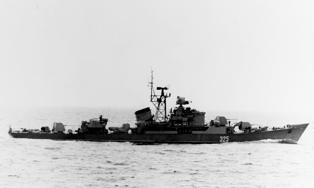 Soviet Baltic Fleet RIGA class ocean escort, photographed during mid-1961 in the Baltic