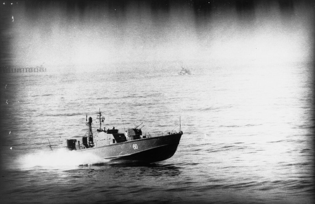 Soviet P-6 Class Motor Torpedo Boat. Note that the torpedo tubes have been removed, 1964.