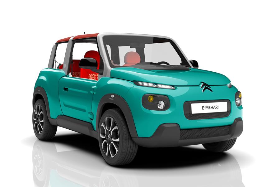 В этом году Citroen выкатывает новый, полностью электрический E-MEHARI. Продажи стартуют во Франции.