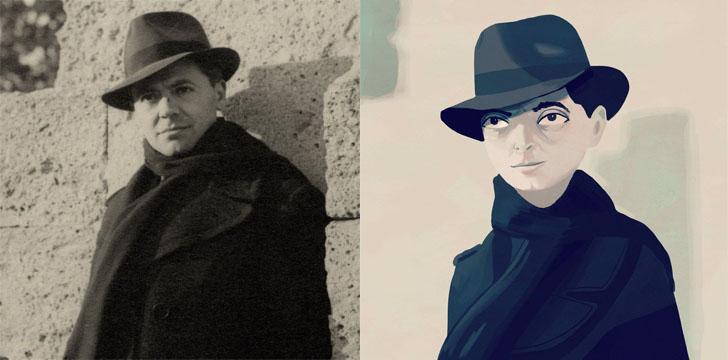 Слева — «Женщина с голубыми глазами», Амедео Модильяни, справа — @pomverte.