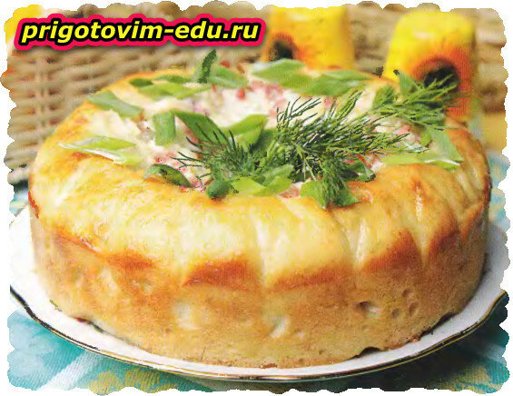 Пирог «Домашний» с беконом