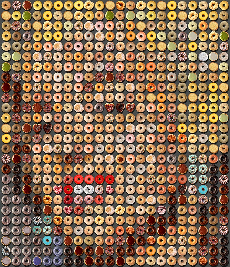 Donut Portraits - The appetizing culinary mosaics of Candice CMC