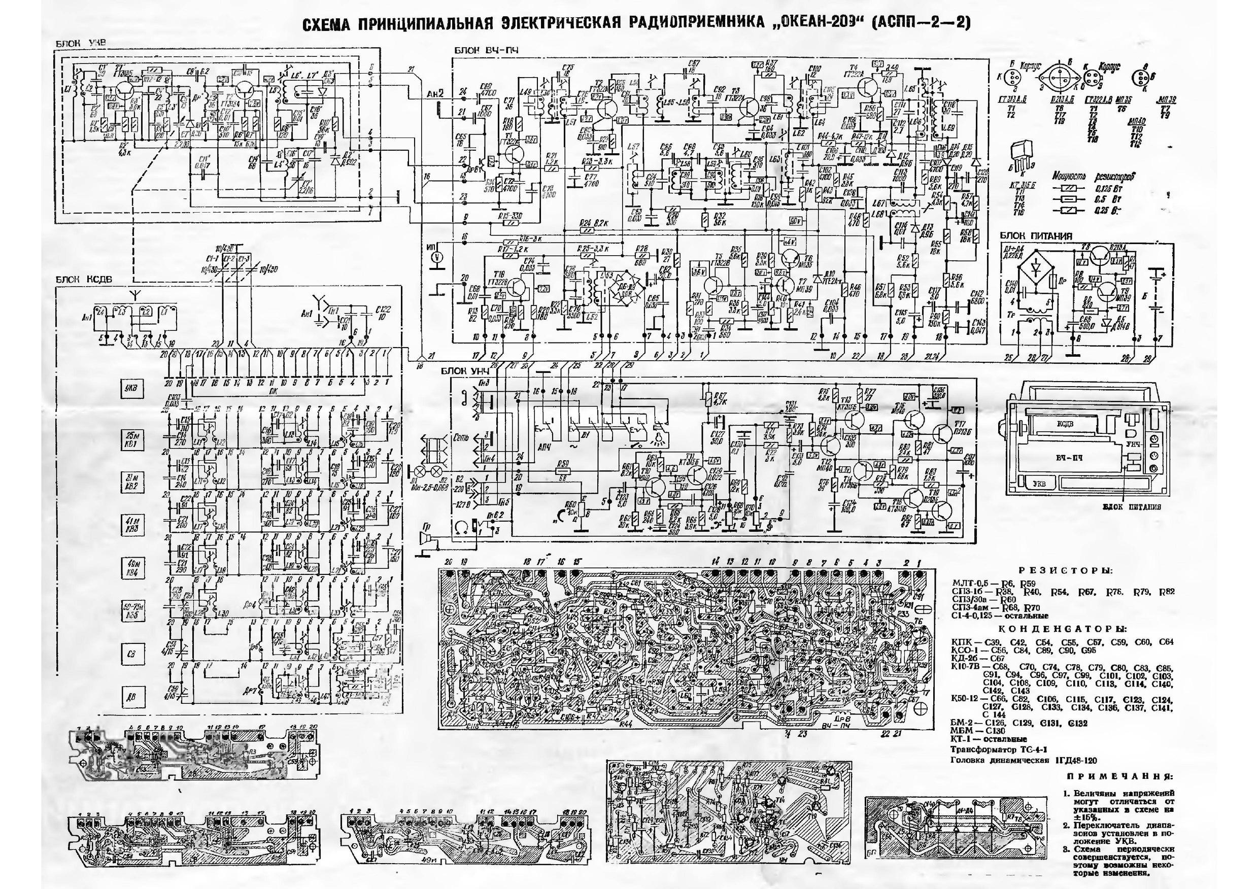Принципиальные эл схемы радиоприемников