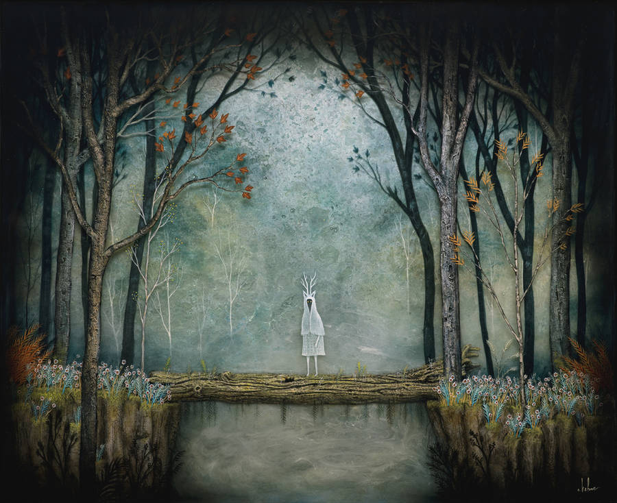 Fantastical Mixed Media Paintings
