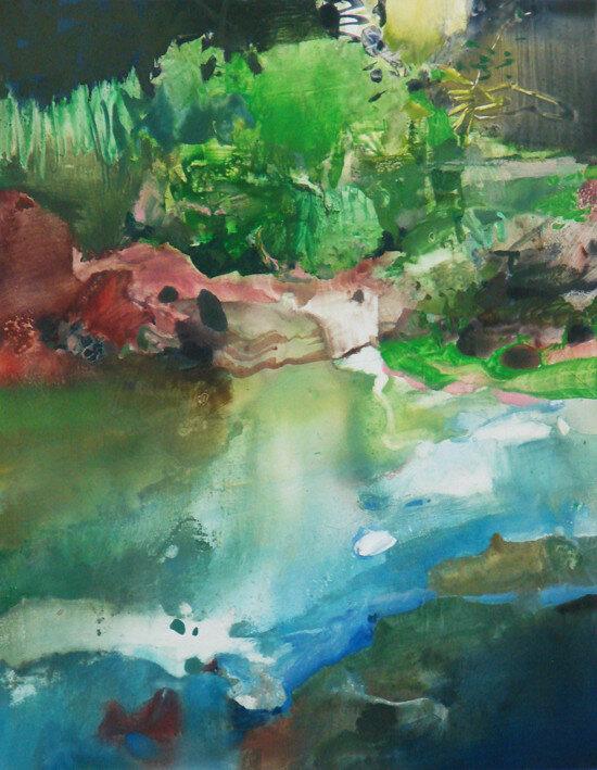 На зорьке запах леса и реки. Randall David Tipton. Акварель