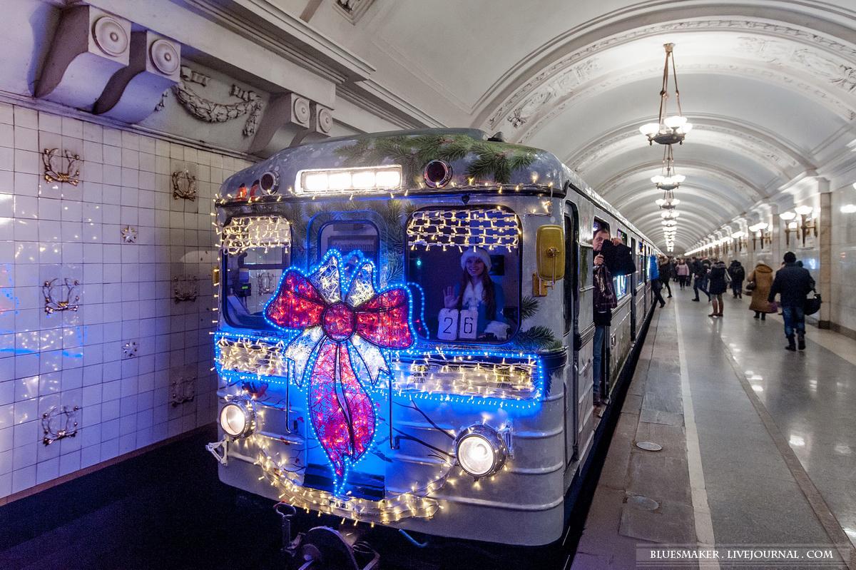 новогодний вагон в метро фото дизайне
