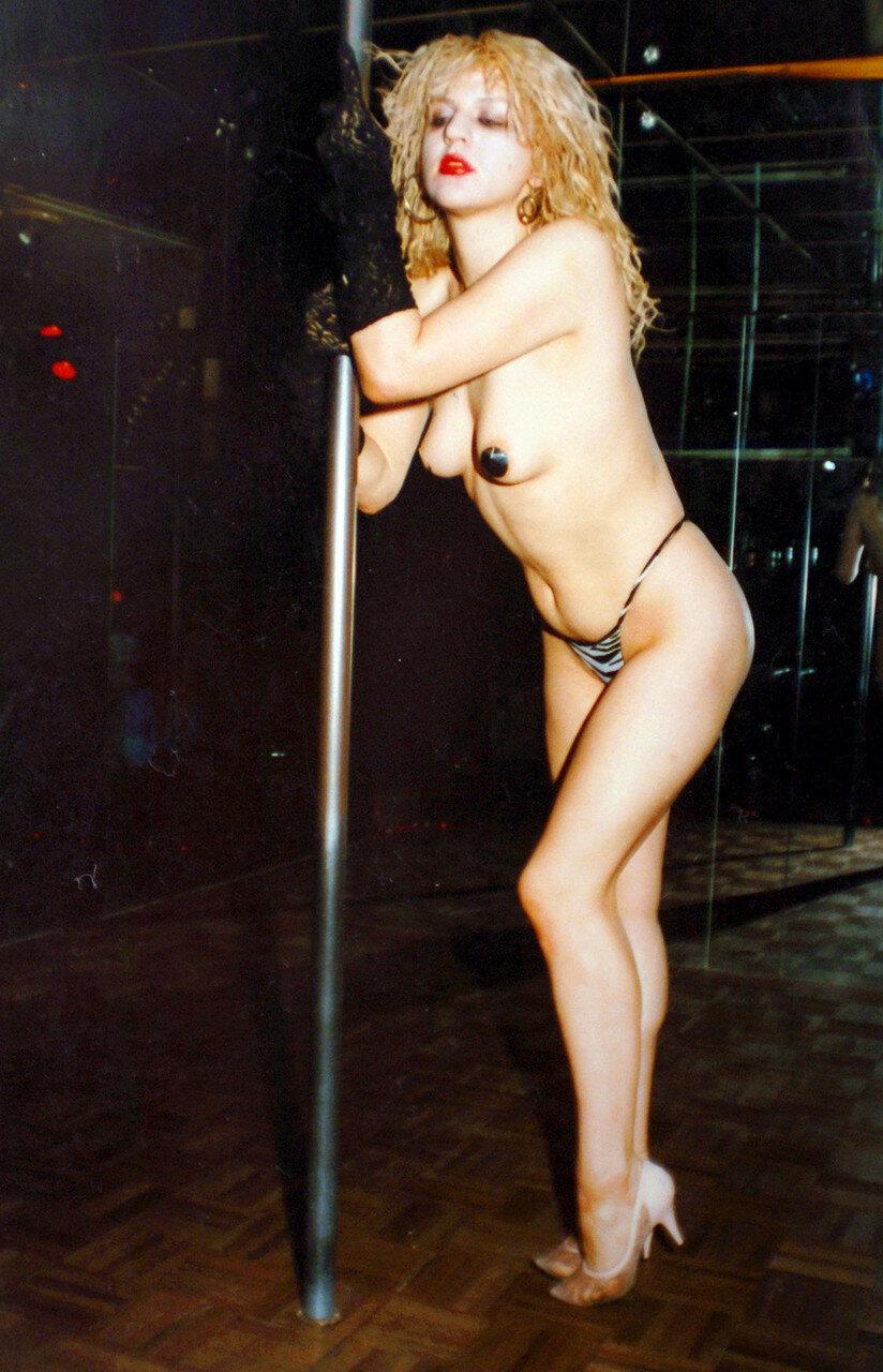 Courtney Love Does Striptease