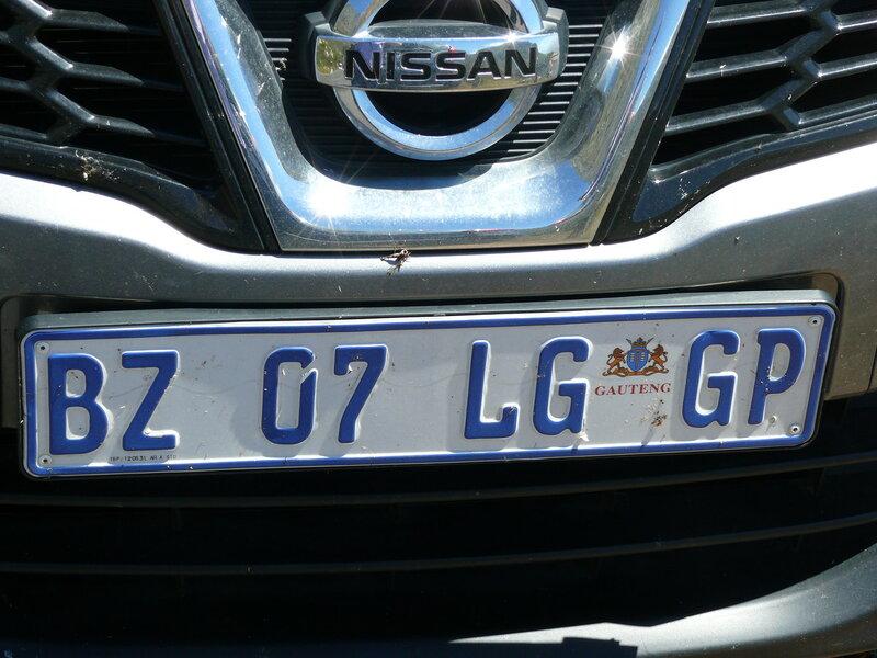 ЮАР, Кейптаун, автомобильные номера
