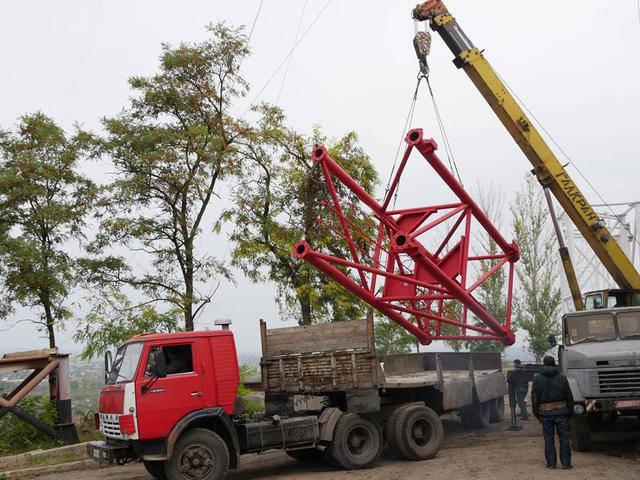 На телебашю на горе Карачун осталось установить 3 секции, - Жебривский. ФОТОрепортаж