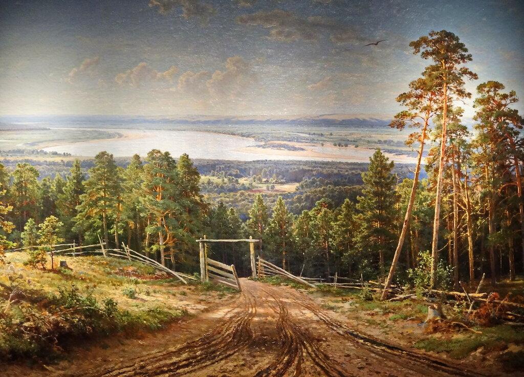 """""""Река Кама близ Елабуги"""" Шишкин И.И. 1885г."""