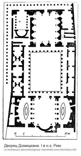 Дворец Флавиев, план