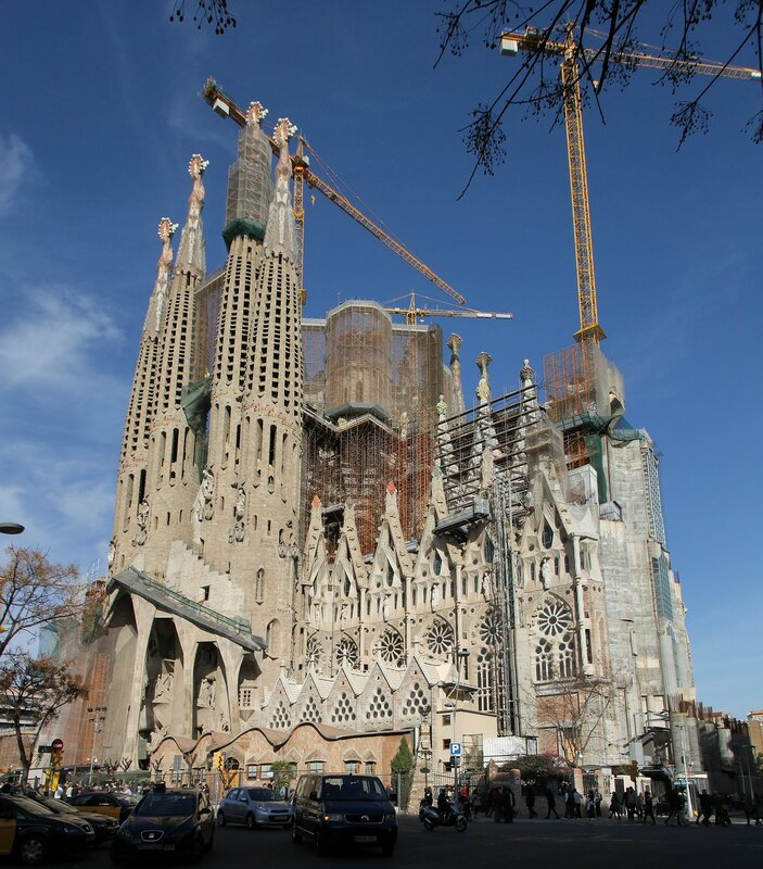 Sagrada Família. The Passion Façade