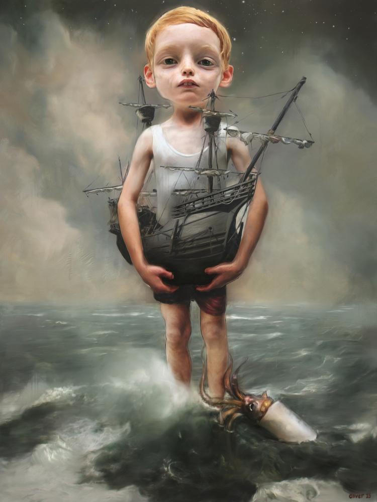 Known Gallery Ричард Оливер родился и вырос в Уэльсе, Великобритания. Изучал живопись в Университете