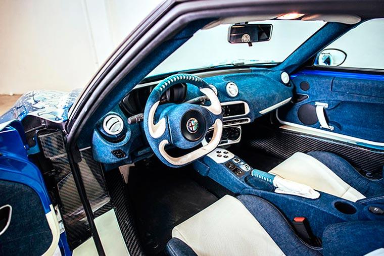 Garage Italia Customs, Alfa Romeo 4C painted with Hokusai's The Great Wave of Kanagawa, 2016