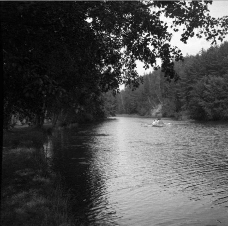 1904. Томилино. Речка. Лодка