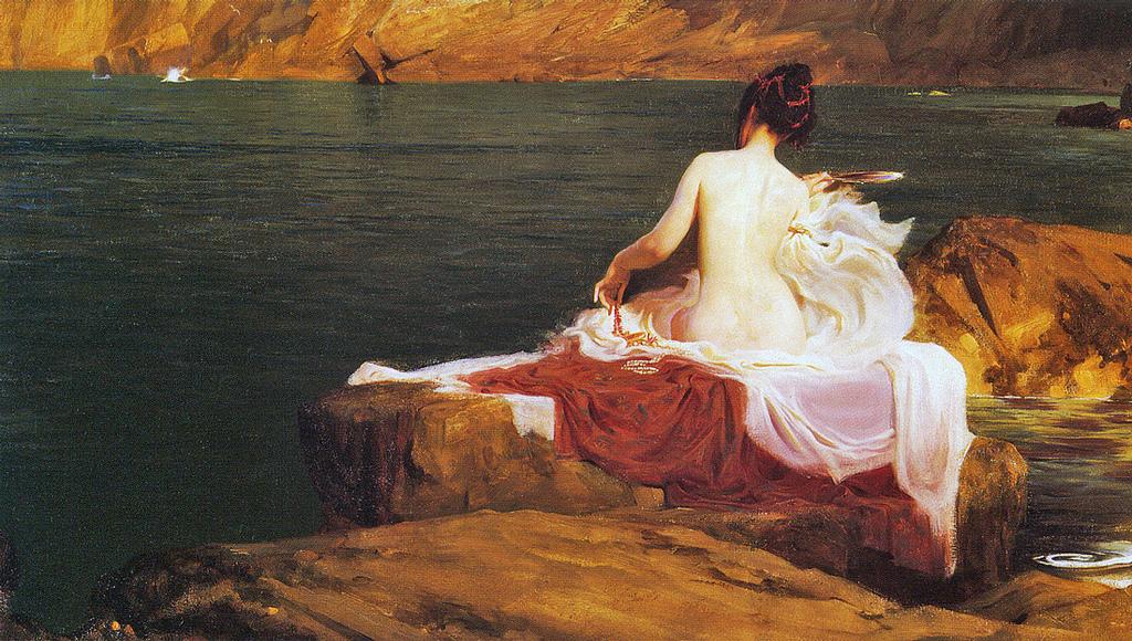 одиссей на острове калипсо картинки нее были светлые