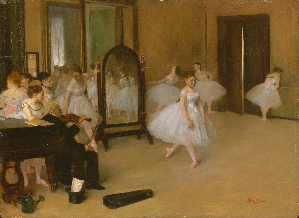 166_Танцевальный класс (ок.1870) (19.7 х 27) (Нью-Йорк, Метрополитен).jpg