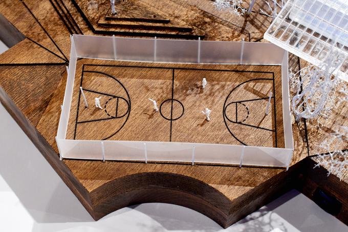 Проект представлен как тотальная спортивная инсталляция под открытым небом. Генеральный план участка