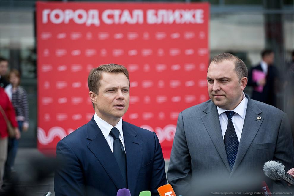 Утром движение открыли Владимир Путин и Сергей Собянин. Уже днем состоялось мероприятие для журналис