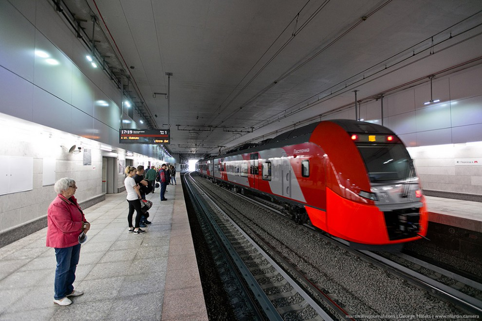 Станция московского центрального кольца «Площадь Гагарина» является единственной подземной остановко