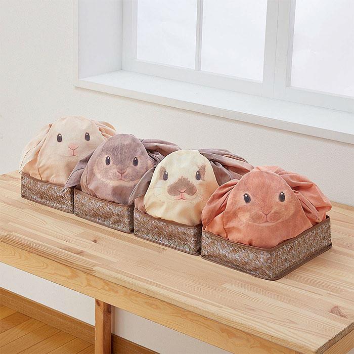 Японские сумки превратят беспорядочно лежащие дома вещи в милых кроликов (6 фото)