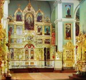 Иконостас в летнем соборе. Иконостас в соборе Похвалы Божией Матери. 1909 год