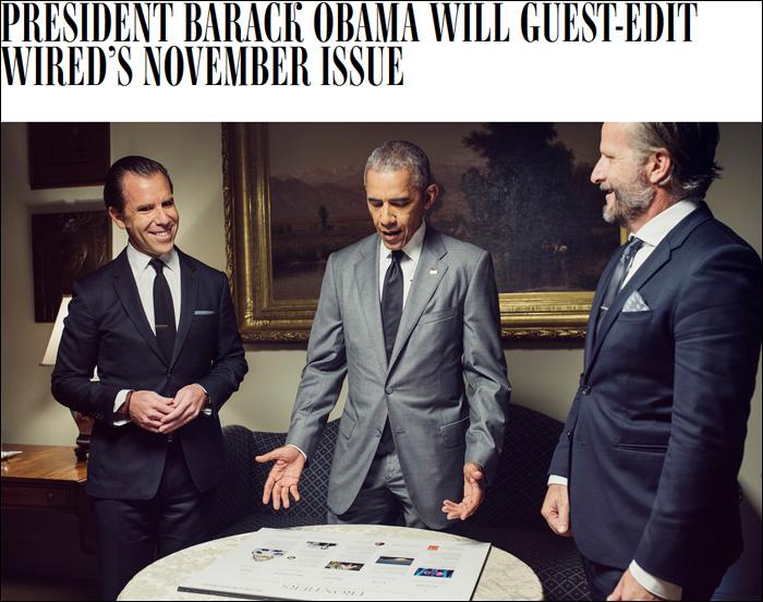 Обама будет редактором выпуска IT-журнала Wired