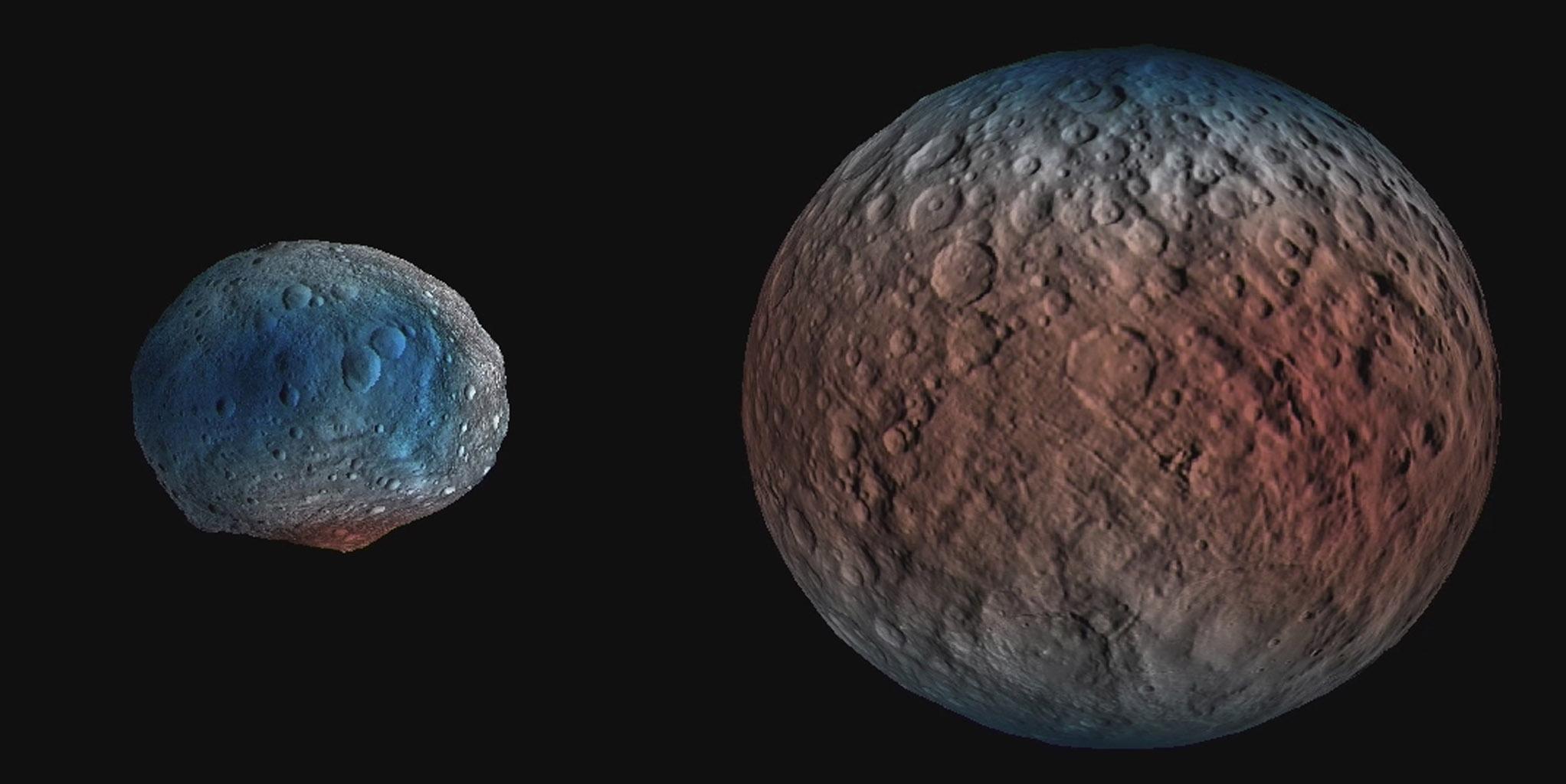 Ученые обнаружили водяной лед на черной стороне Цереры