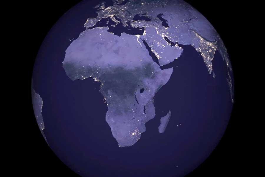 ВNASA представили новейшую мировую карту ночной Земли