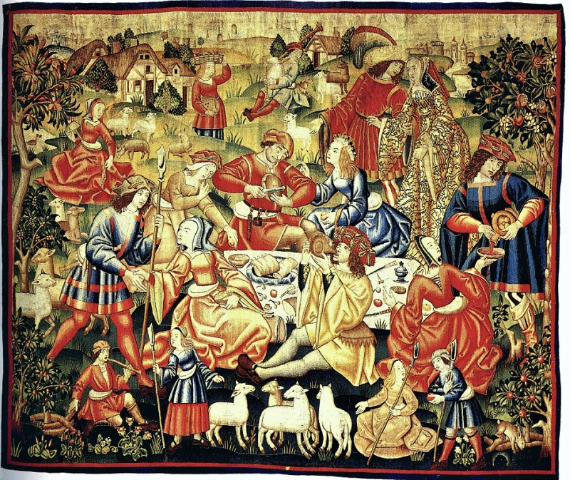 zzz 15C The Repas Champetre Tapestry which could translate to meal in the fields.jpg