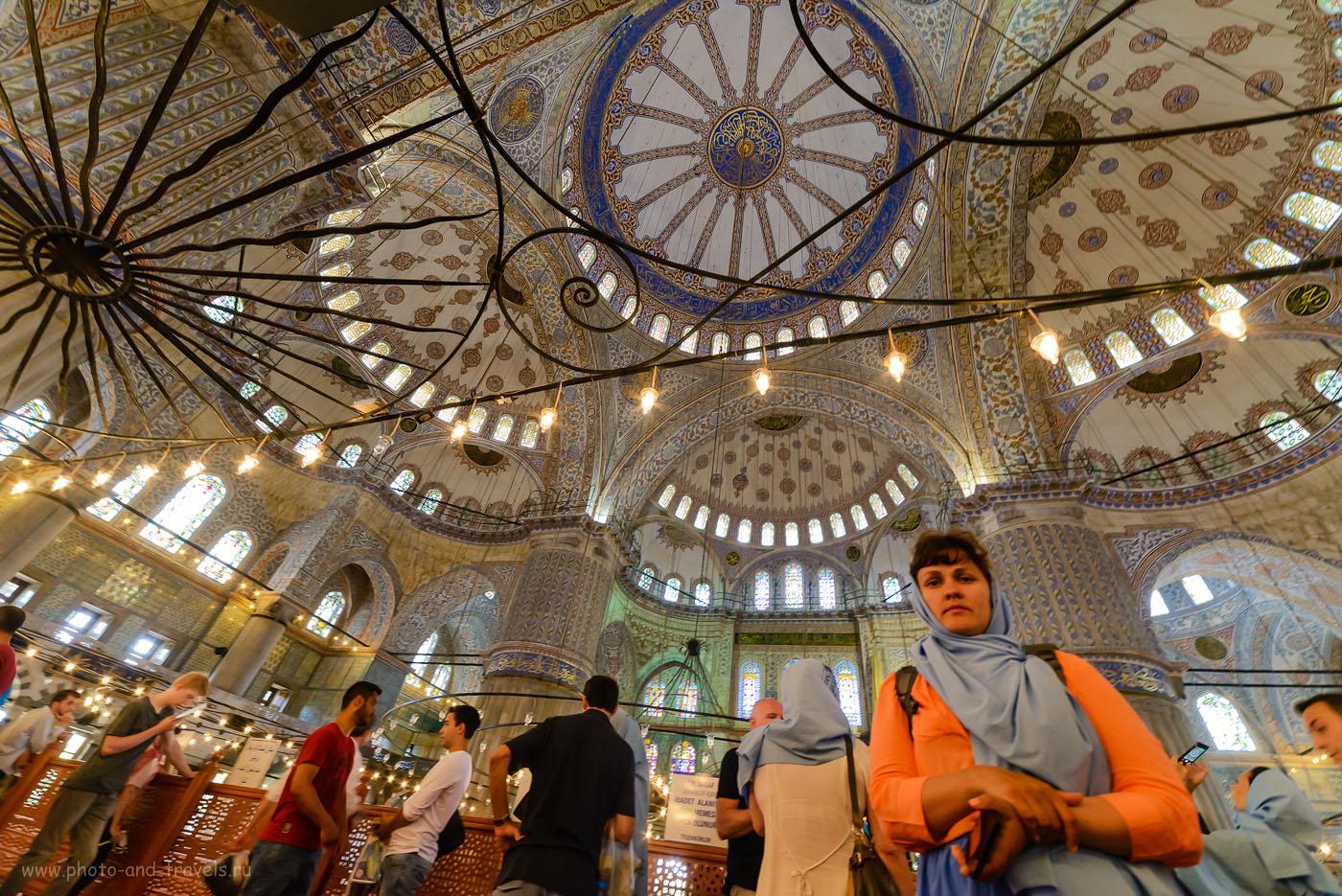 Фото 33. Купола в мечети Султанахмет (Голубая мечеть) в Стамбуле. Отзыв о самостоятельной экскурсии. Поездка в Турцию дикарями. 1/30, +0.67, 8.0, 4000, 14.