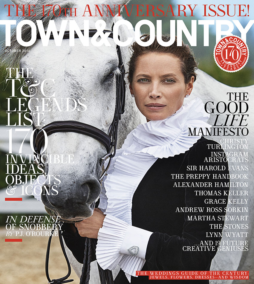 Christy Turlington - Town & Country (October 2016)
