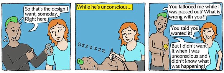 Viol et Consentement - Expliquer la difference en 7 petites bandes dessinees