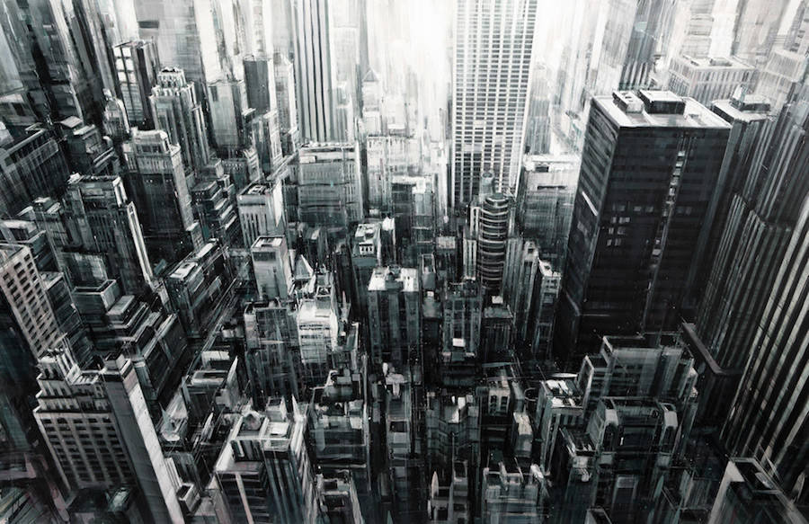 Beautiful and Enigmatic Cityscapes Paintings of NYC (7 pics)