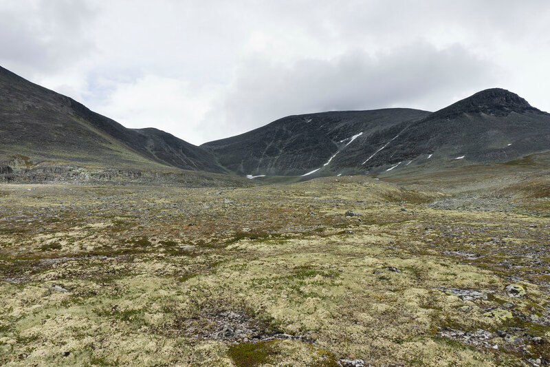 горы Digerronden и Midtronden в парке Рондане (Rondane), Норвегия