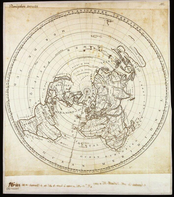 Беловодье Планисфера земли с отметками долготы, 1696.jpg