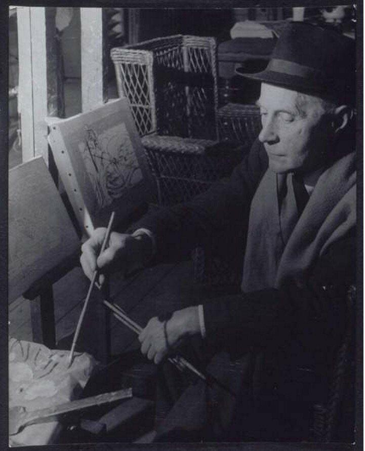 1954. Жак Вийон в своей студии в Пюто