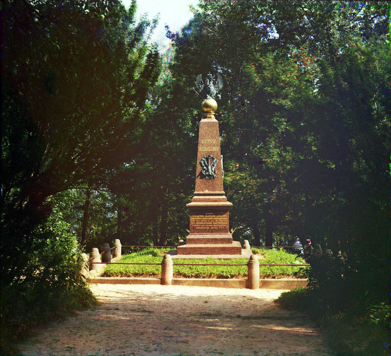 Окрестности Переславля. Памятник Петру I