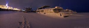 Зимование город, Чебоксары, ночь, зима, мороз, панорама