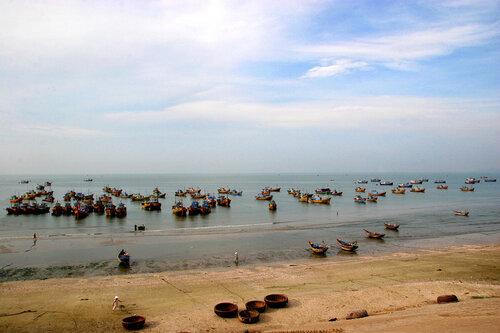 Вид у рыбацкого посёлка.