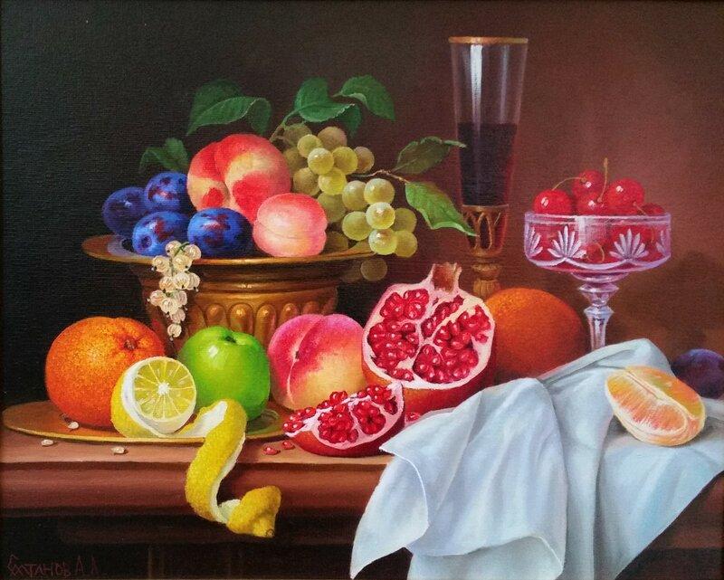 Натюрморт с фруктами ...