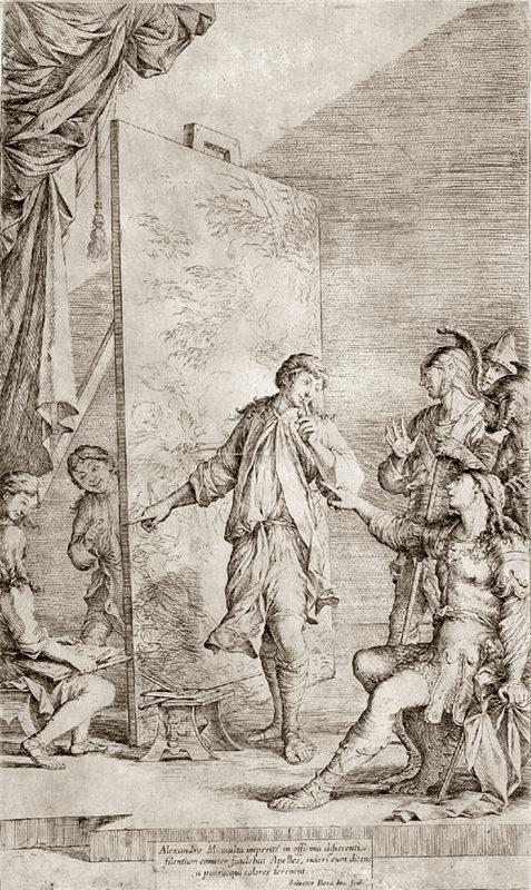 Salvator Rosa Alexander in Apelles studio. 1662 г..png