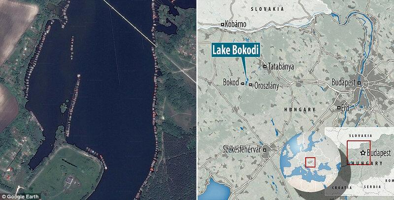 Домики на озере Бокоди на картах Google Планета Земля