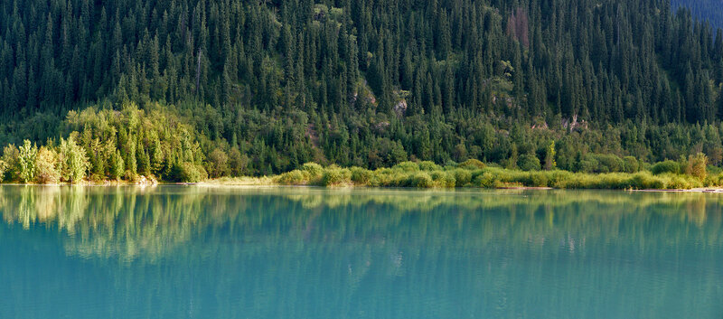 Фрагмент озера Иссык