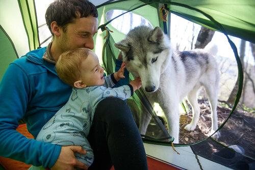 Палатка Mountain Hardwear Skyledge. Поход с ребенком 10 месяцев.
