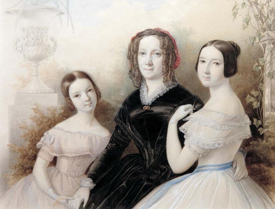 Е. Н. Оболенская с дочерьми.jpg