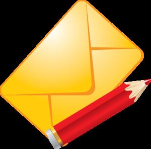 письмо и карандаш